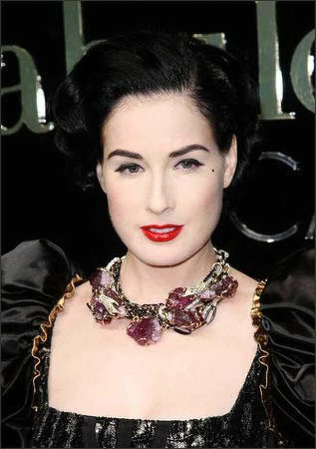 Dita Von Teese attends the Dolce & Gabbana party at the Le Baoly, Port Canto during the 62nd annual Cannes Film Festival in Cannes, France. Photo: Getty Images / Getty Images