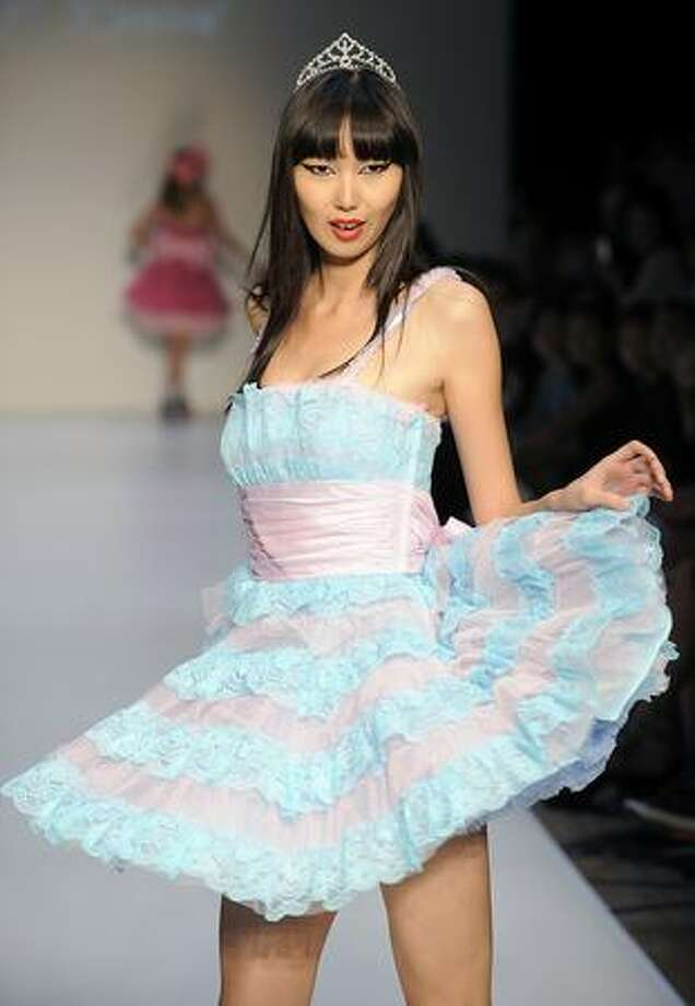 A model showcases designs by Betsey Johnson on he catwalk during the Mastercard Luxury Week Hong Kong 2009 at The Four Seasons Hotel in Hong Kong. Photo: Getty Images / Getty Images