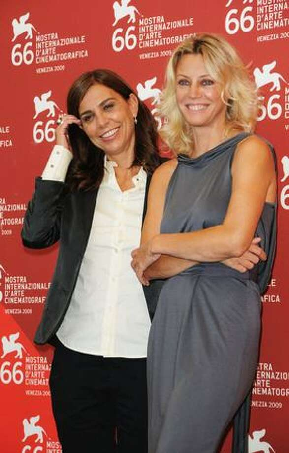 "Director Francesca Comencini (left) and actress Margherita Buy attend the ""Lo Spazio Bianco"" photocall at the Palazzo del Casino during the 66th Venice Film Festival in Venice, Italy on Sept. 8, 2009. Photo: Getty Images / Getty Images"