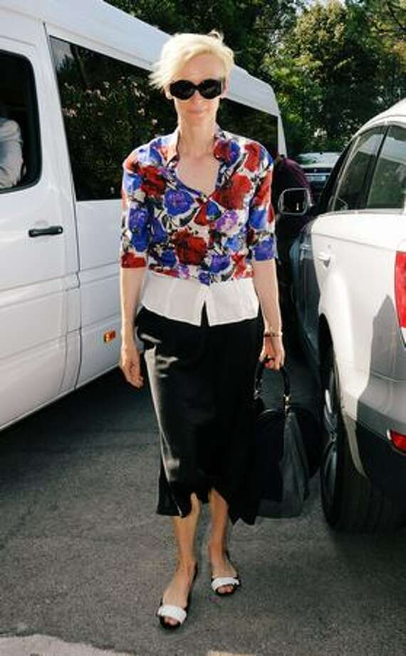 Actress Tilda Swinton is seen leaving during the 66th Venice Film Festival in Venice, Italy on Wednesday, Sept. 9, 2009. Photo: Getty Images / Getty Images