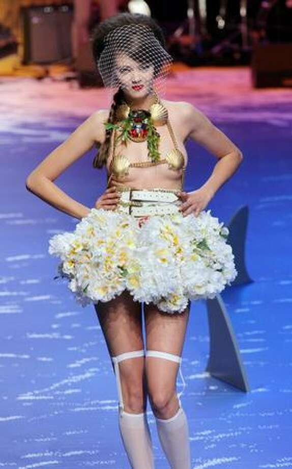 A model presents an outfit by French designer Jean-Charles de Castelbajac during Paris Fashion Week ready-to-wear spring/summer 2010 on Tuesday, Oct. 6, 2009. Photo: Getty Images / Getty Images