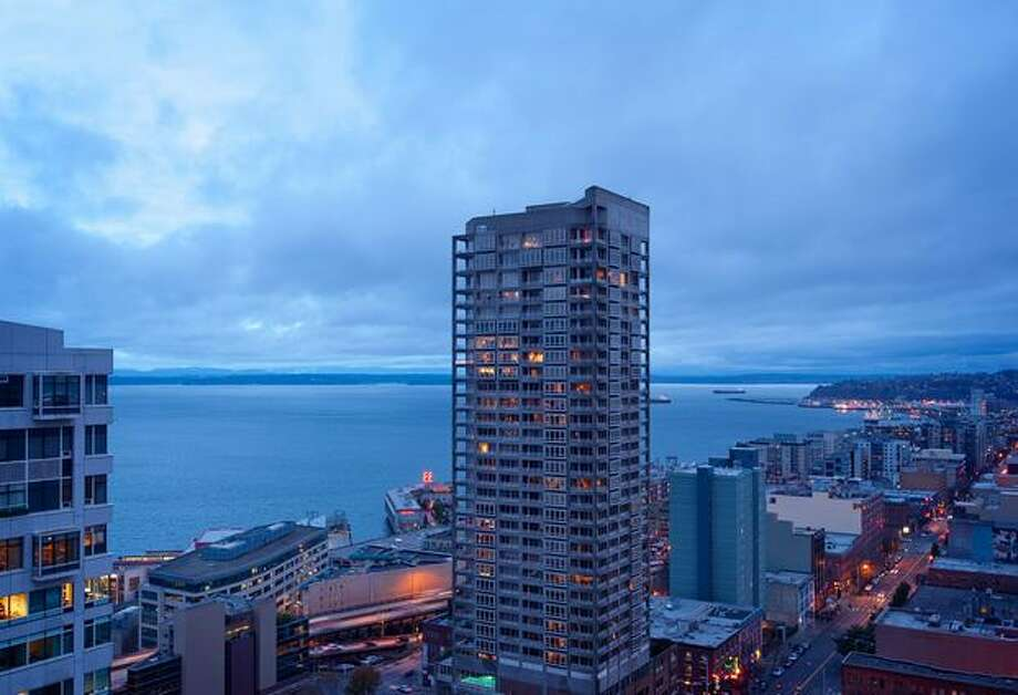 Located in Seattle, this condo is 1,588 square feet. With Scandinavian Birch floors, 17th century Acid etched steel frame doors, and Urban Ease German sliders, this 2-bedroom condo and 2-bath takes advantage of mountain and Sound views and lists at $1.395 million. It is located at 2033 2nd Ave Unit 1909.  See the listing for more information. (Coldwell Banker Bain)