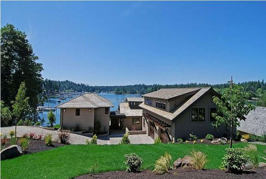 This $2,950,000 home on Bainbridge Island has three bedrooms and 3.5 bathrooms and was built in 2009. The house is 4,431 square feet. (Windermere.com) See the listing.