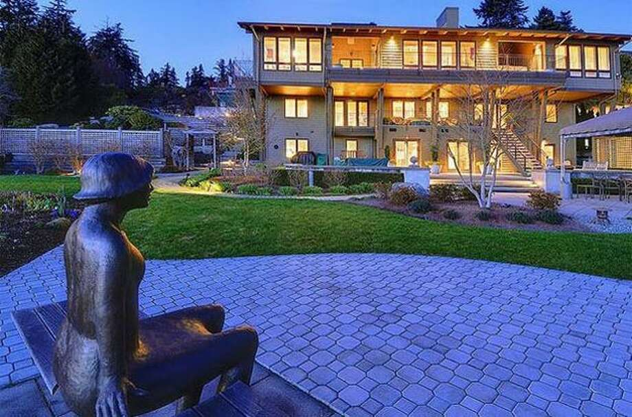 Designed by Paul Hayden Kirk and built in 1965 with an extensive remodel in 1998, this $4,580,000, 5,030 square-foot gated estate with five bedrooms and 4.5 bathrooms on the shores of Lake Washington in the Kirkland area offers breathtaking views of Mt.Rainier, the Olympics, the Seattle skyline and brilliant sunsets. See the listing here.
