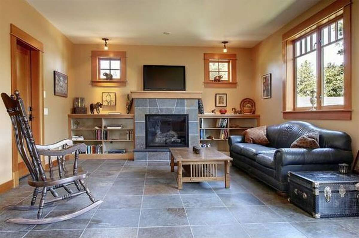 Slate floors highlight the living area on the main floor. (Windermere.com) See the listing.