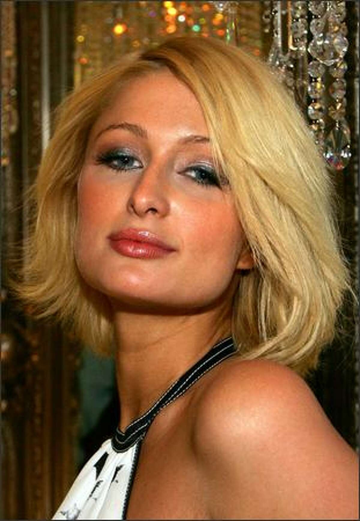 Paris Hilton attends the grand opening of Color - A Salon by Michael Boychuck at Caesars Palace in Las Vegas, Nevada.
