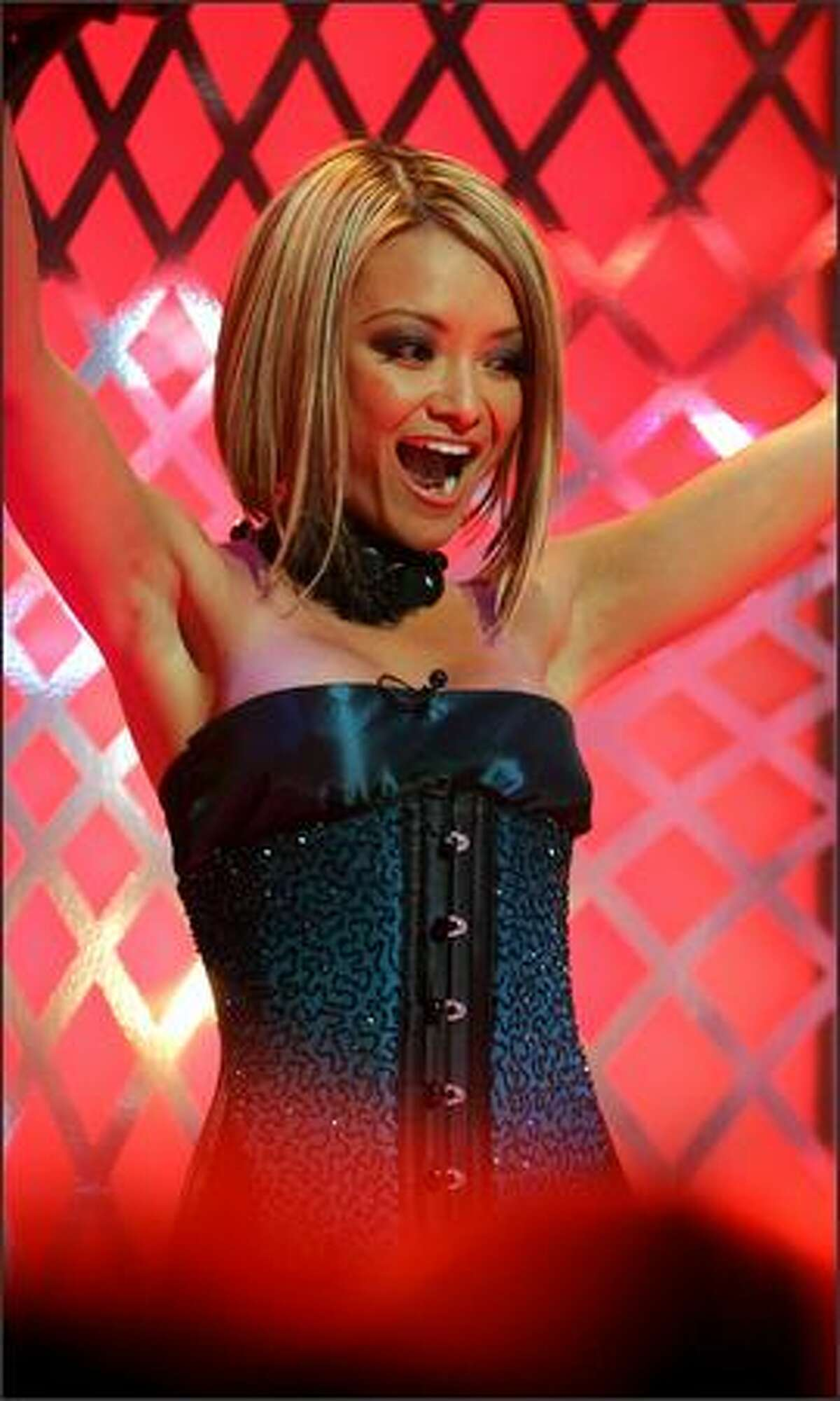 TV personality Tila Tequila attends Tila Tequila's MTV New Year's Eve Masquerade 2008 at the MTV Studios in New York City.