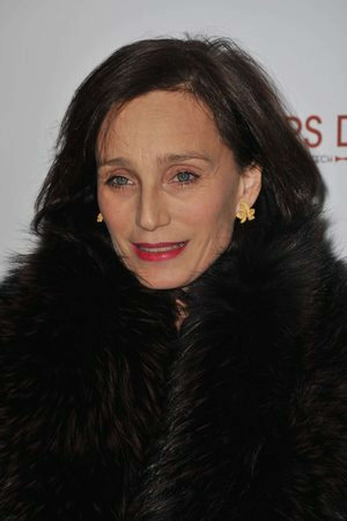 Actress Kristin Scott Thomas attends the Paris Premiere of the film