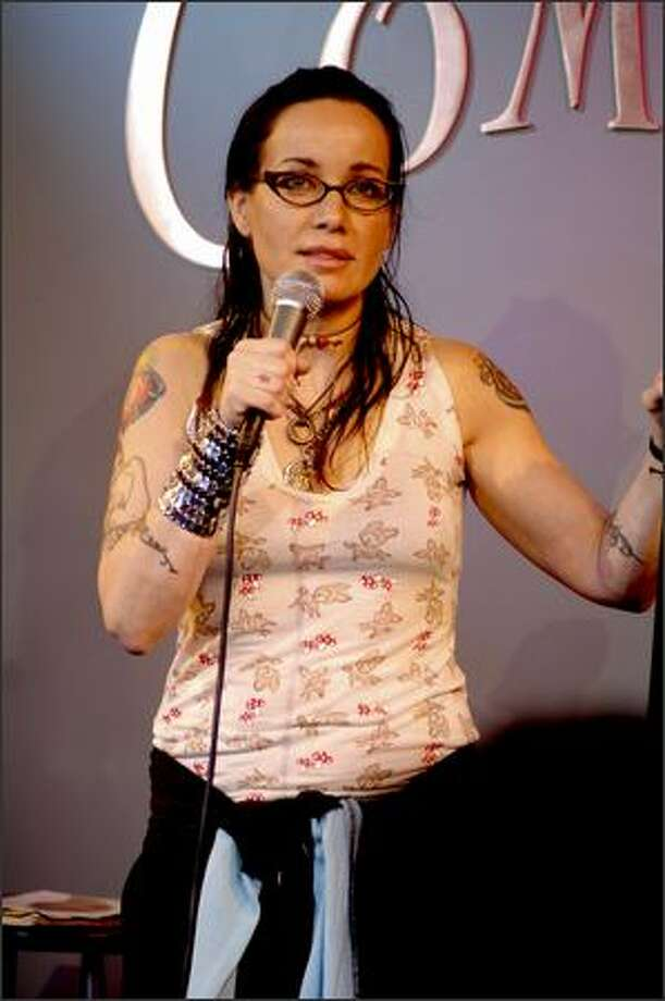Janeane Garofalo performs at an evening with the writers and performers of Saturday Night Live at Comix on January 7, 2008 in New York City. Photo: Getty Images / Getty Images