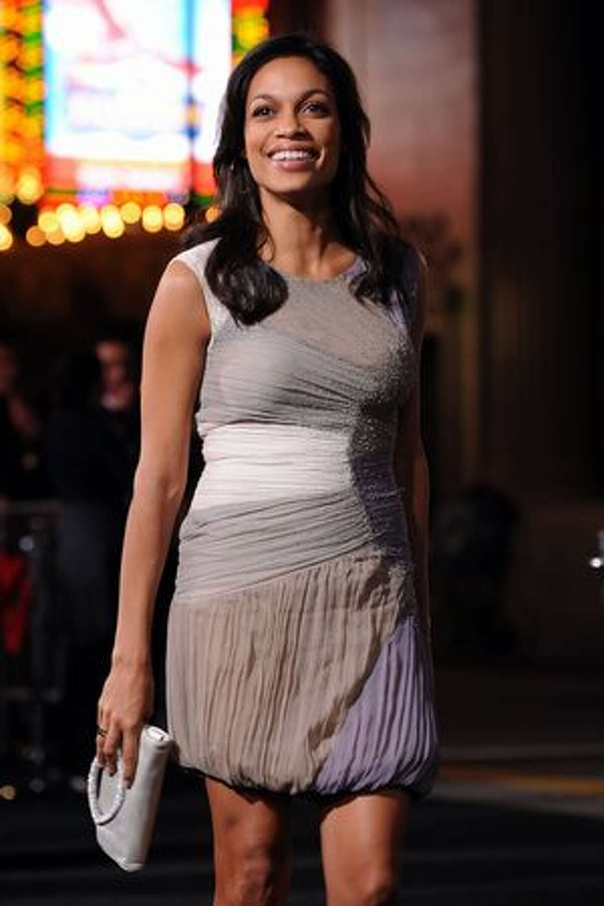 Actress Rosario Dawson arrives at the Premiere Of Warner Bros.