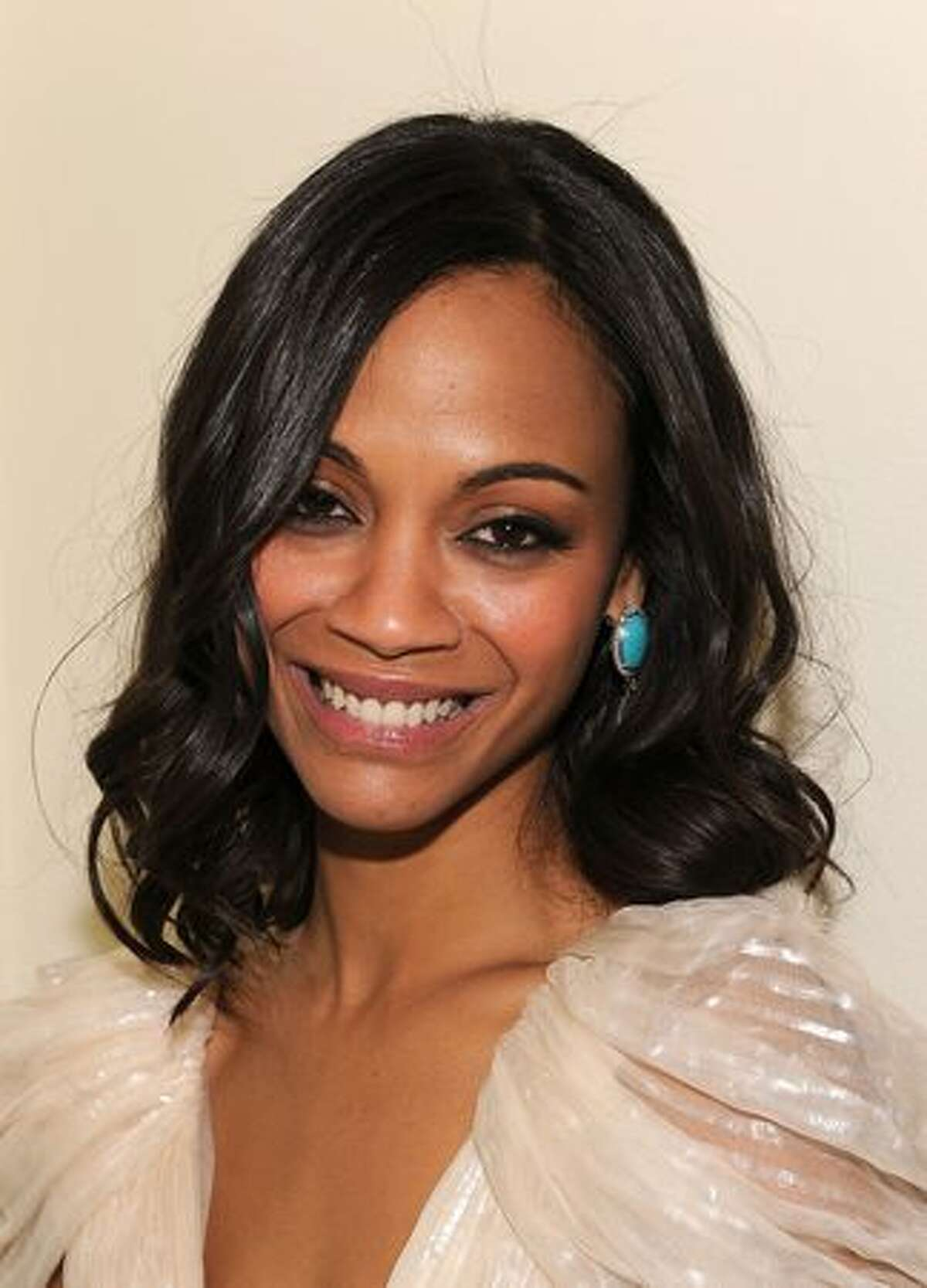 Actress Zoe Saldana at the Golden Globes party hosted by T Magazine and Dom Perignon at Chateau Marmont in Los Angeles, California.