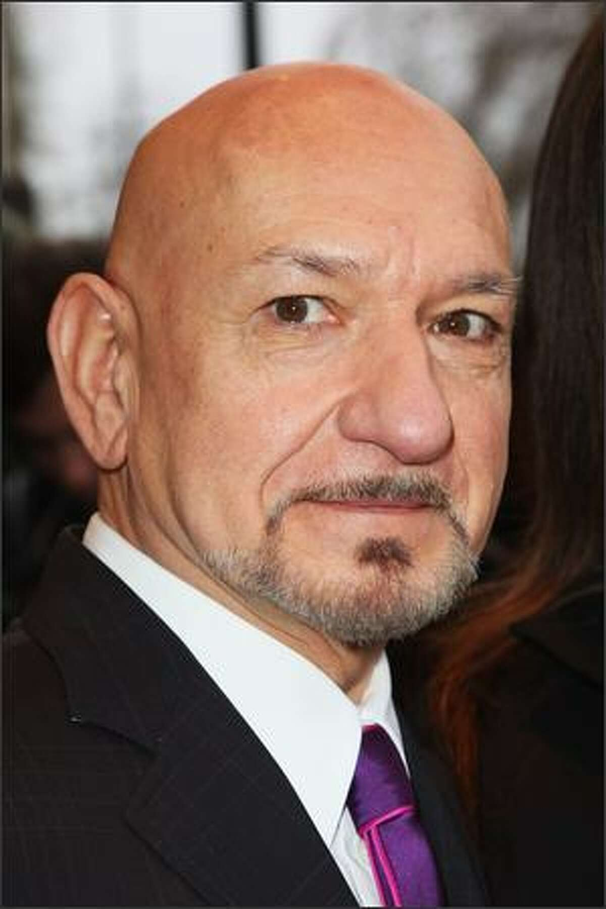 Actor Ben Kingsley arrives for the South Bank Show Awards at the Dorchester Hotel in London, England.