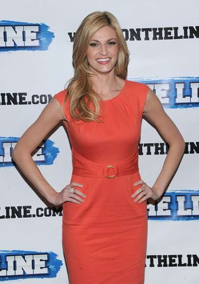 NEW YORK, NY - Erin Andrews attends the On The Line prostate cancer initiative campaign event at The Millennium Broadway Hotel on Wednesday in New York City. (Photo by Dimitrios Kambouris/Getty Images)