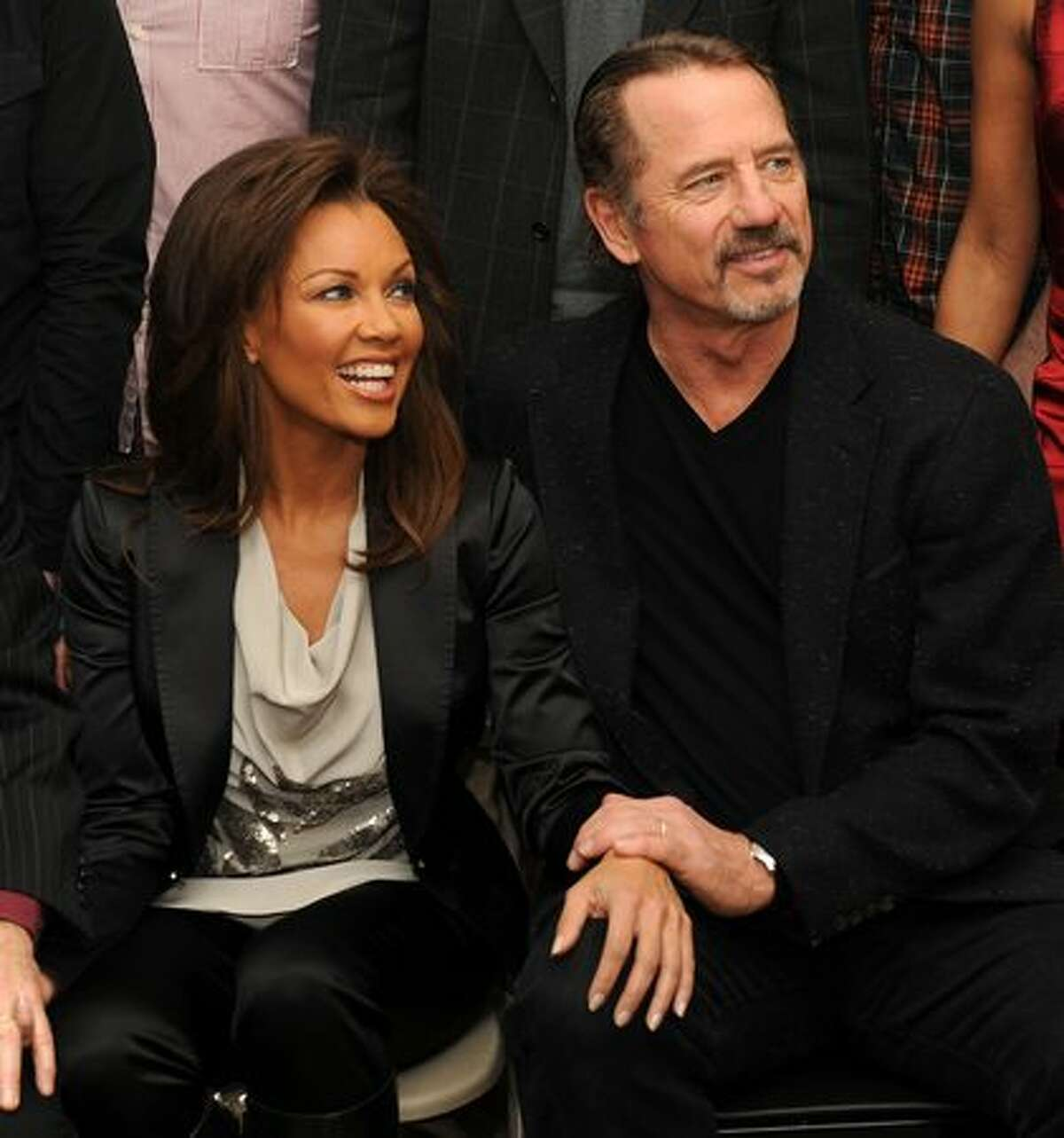 Actress Vanessa Williams and actor Tom Wopat attend the meet and greet for Broadway's
