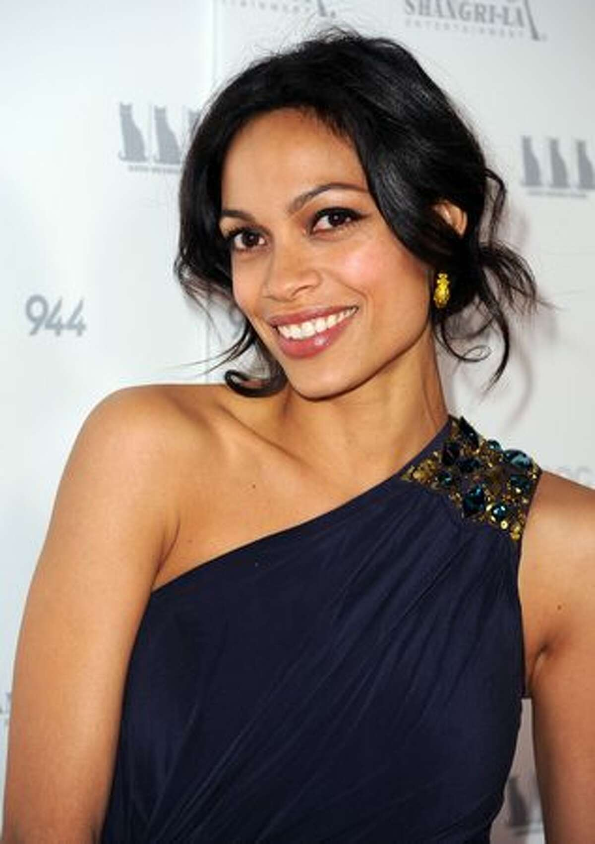 Actress Rosario Dawson arrives at the premiere Of Shangri-La Entertainment's