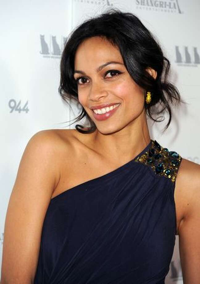 "Actress Rosario Dawson arrives at the premiere Of Shangri-La Entertainment's ""Girl Walks Into A Bar"" held at the ArcLight Cinemas in Los Angeles, California. Photo: Getty Images / Getty Images"