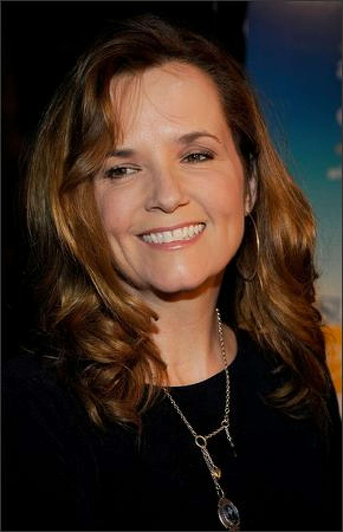 Actress Lea Thompson arrives at the Overture Film's screening of