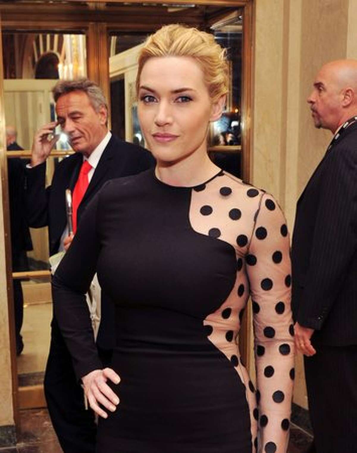 """Actress Kate Winslet attends the after party for the """"Mildred Pierce"""" premiere in the the Grand Ballroom at The Plaza Hotel in New York City."""