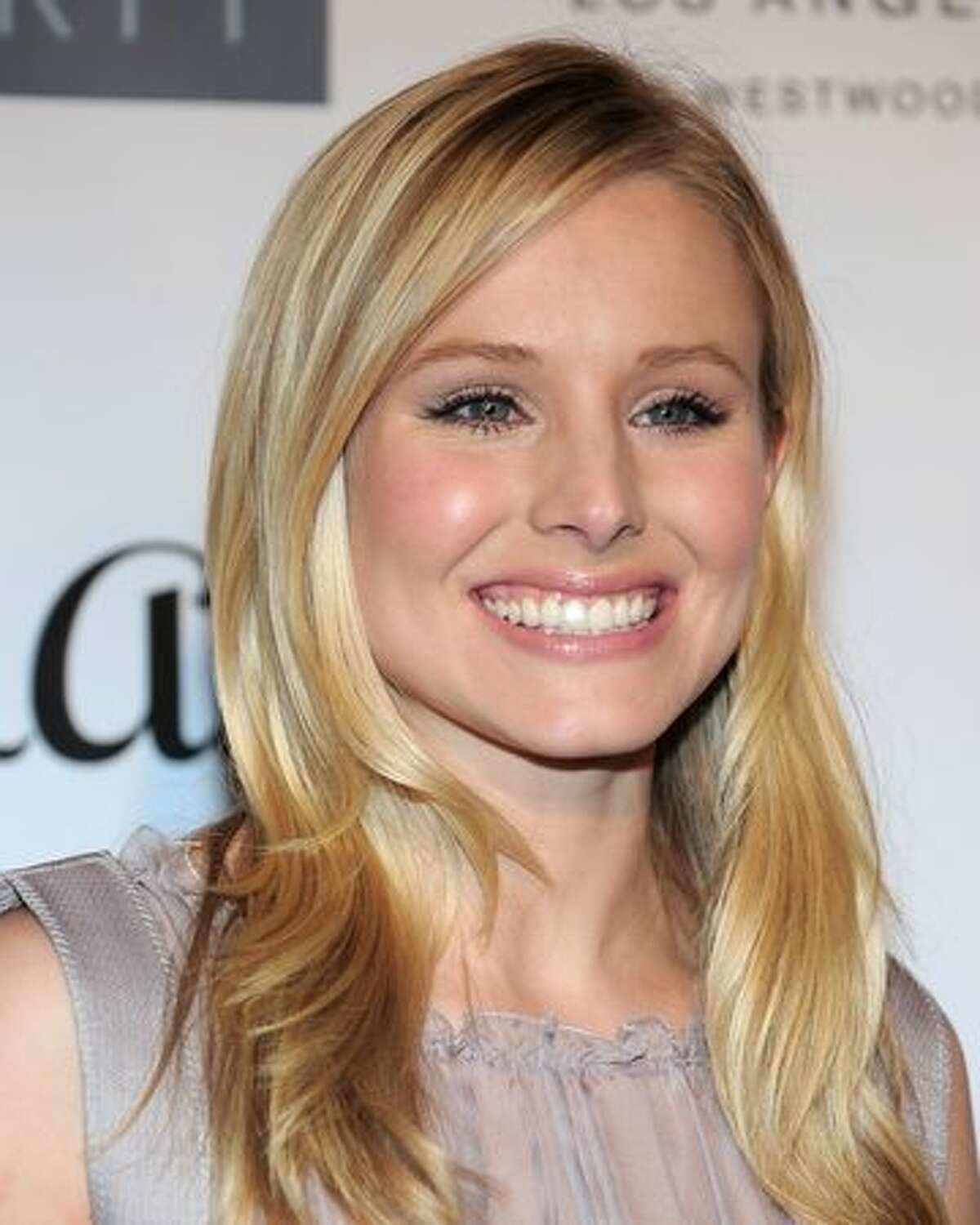 Actress Kristen Bell poses on the red carpet at the Geffen Playhouse's Annual Backstage at the Geffen Gala in Los Angeles, California.