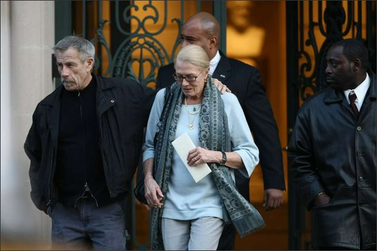 Actress Vanessa Redgrave is seen leaving the wake of actress Natasha Richardson at the American Irish Historical Society in New York City. Richardson died at Lenox Hill Hospital on March 18 in New York City after suffering a ski injury at the Mont Tremblant resort in Montreal.