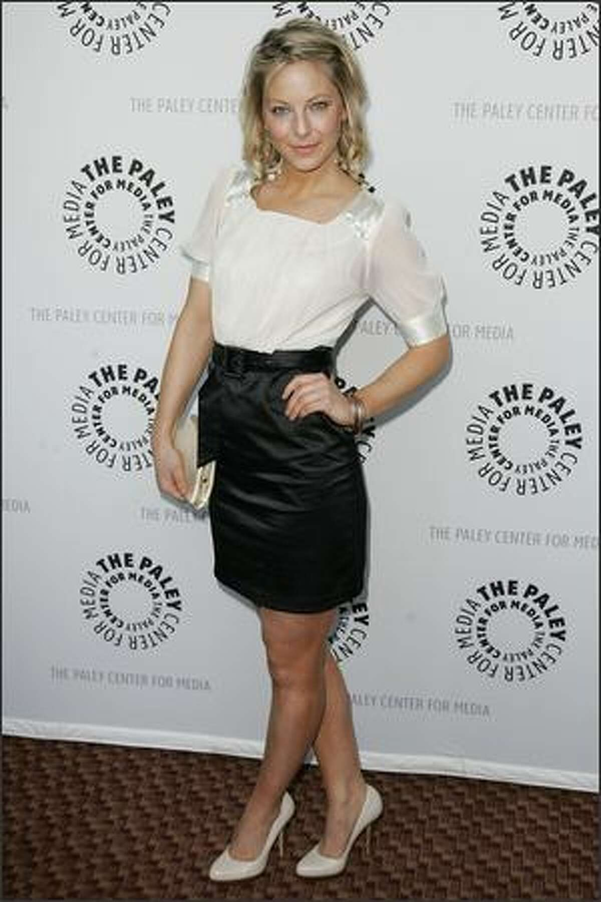 Actress Anastasia Griffith arrives at the Payley Center for Media's 25th annual Paley Television Festival at the Arclight Cinema on March 24, 2008 in Hollywood, Calif.