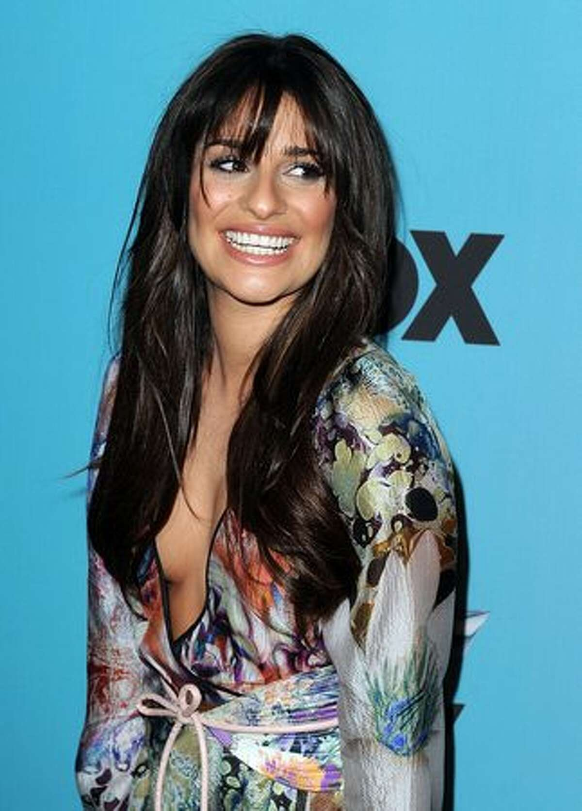 Actress Lea Michele arrives at Fox's
