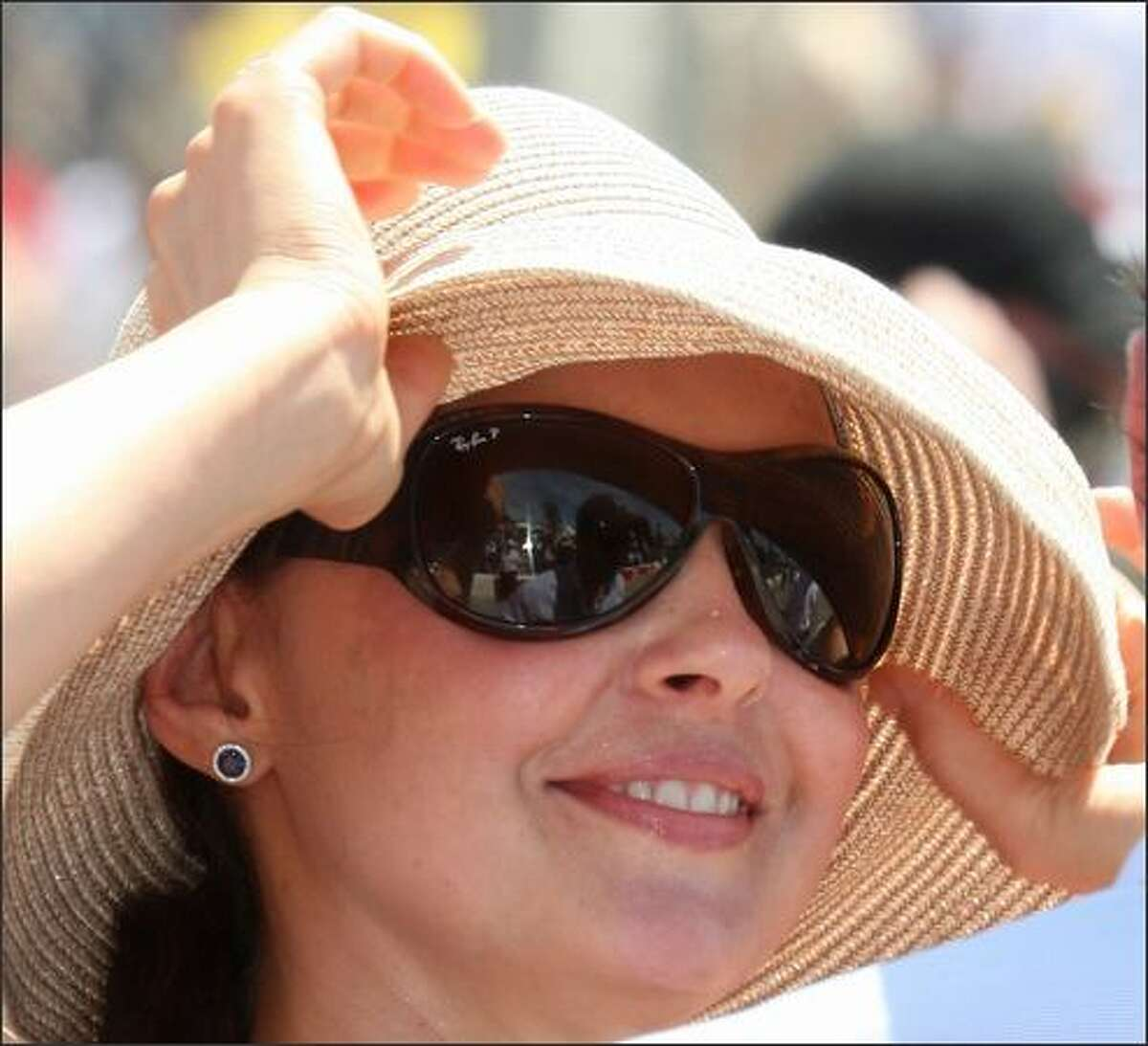 Actress Ashley Judd attends the 35th annual Toyota Grand Prix of Long Beach in Long Beach, California.