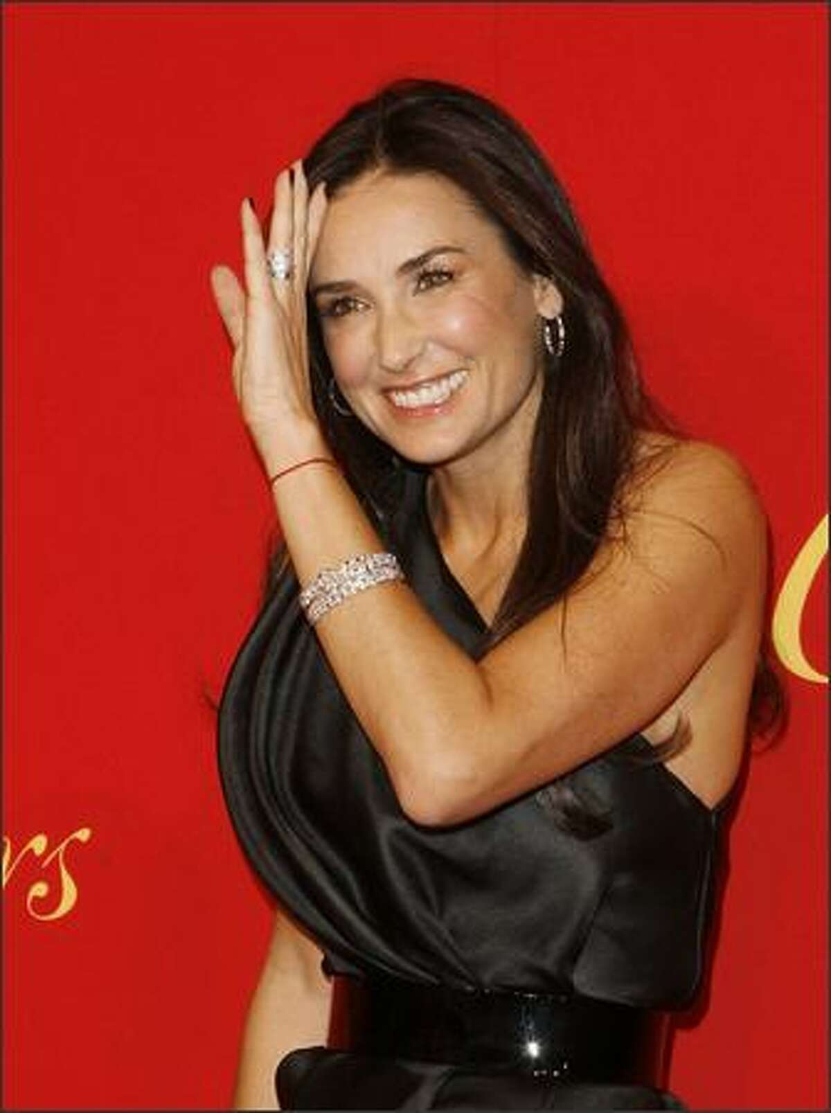 Actress Demi Moore arrives for the Cartier 100th Anniversary in America Celebration event in New York.
