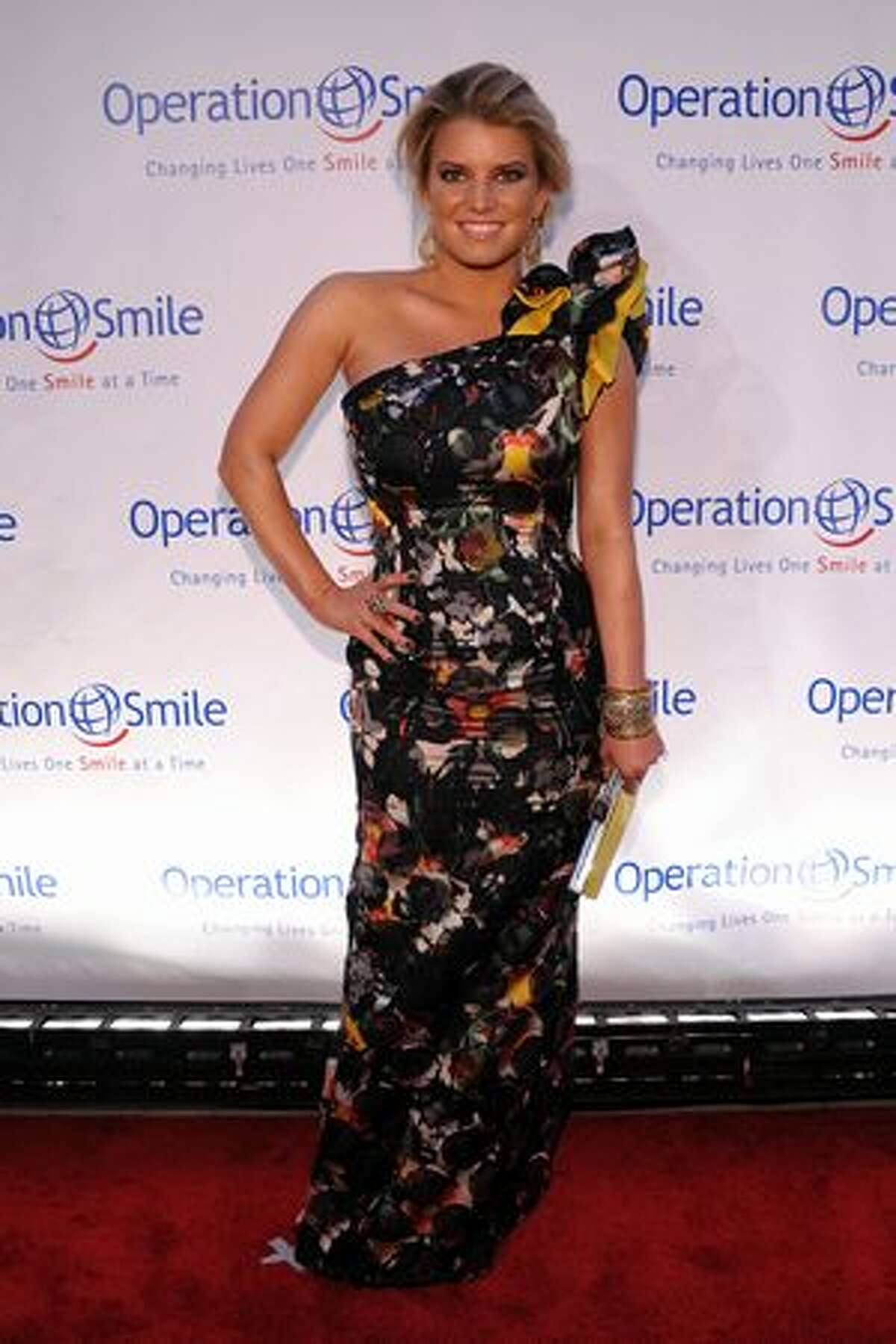 Singer Jessica Simpson attends the 2010 Operation Smile annual gala at Cipriani, Wall Street on Thursday, May 6 in New York City.
