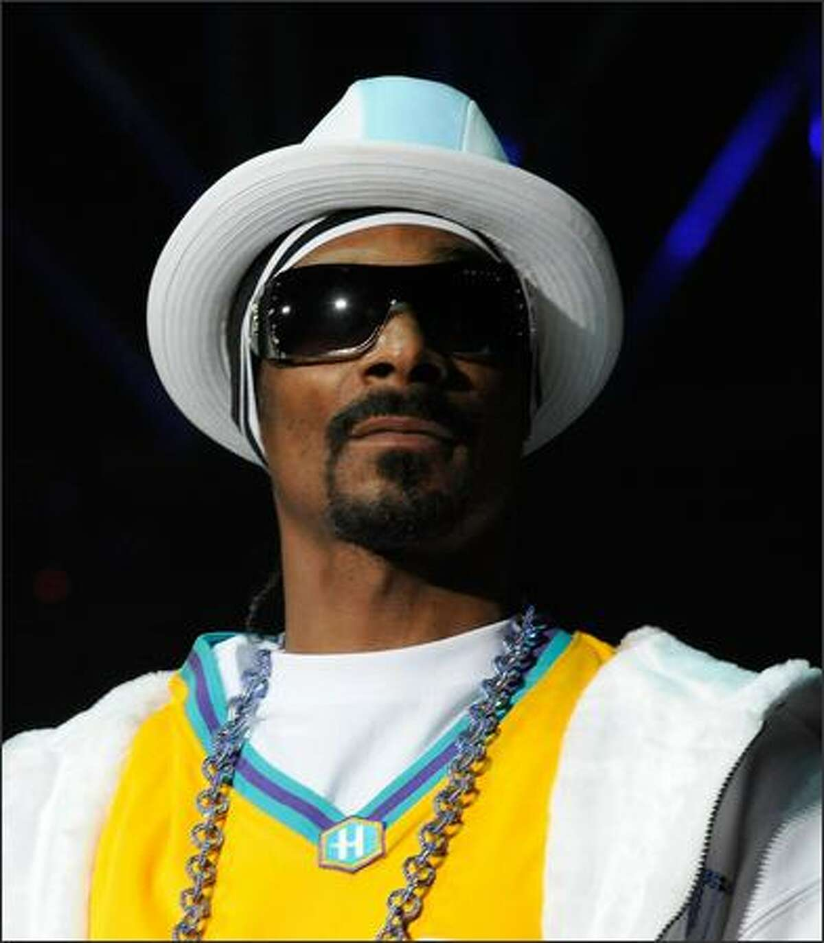 Rapper Snoop Dogg performs at the KIIS-FM's 2008 Wango Tango concert held at the Verizon Wireless Amphitheater on May 10, 2008 in Irvine, California.