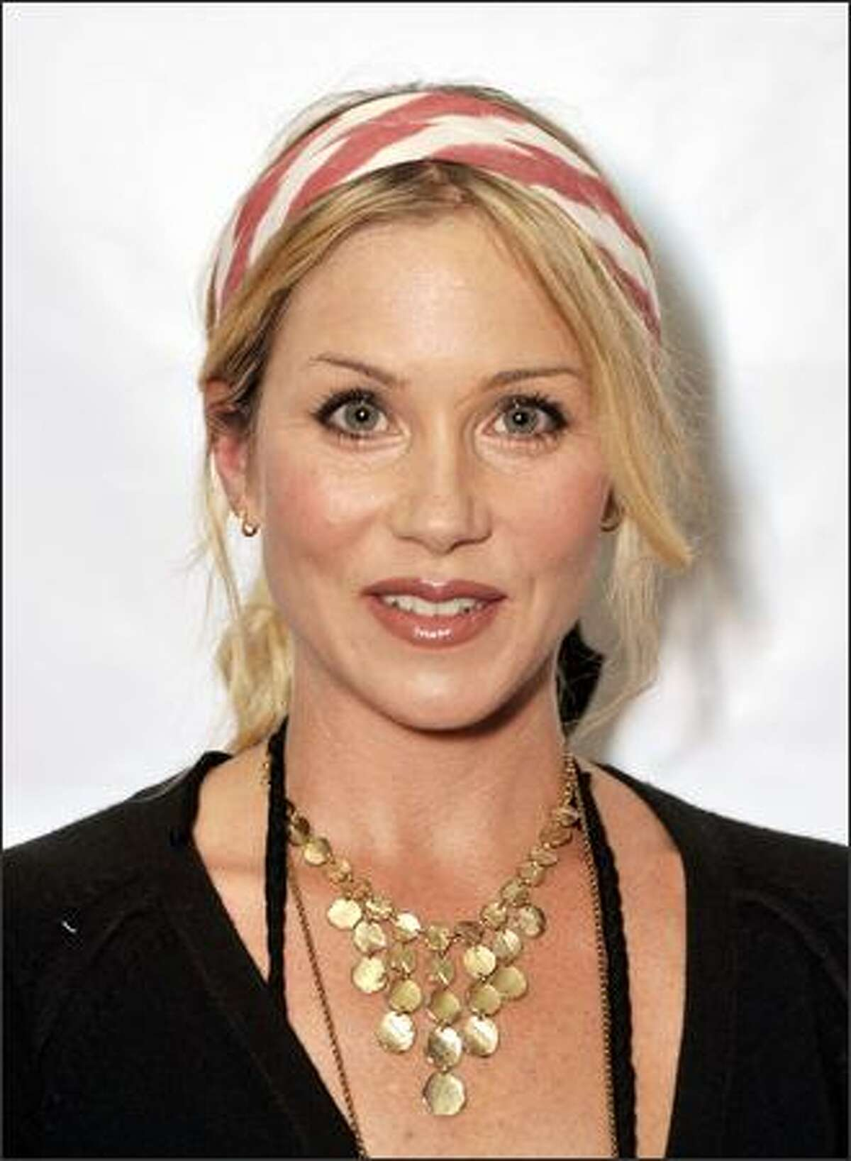 Actress Christina Applegate arrives at Shakespeare Festival/LA's Simply Shakespeare 2009 'The Comedy of Errors' at The Geffen Playhouse in Los Angeles, California.