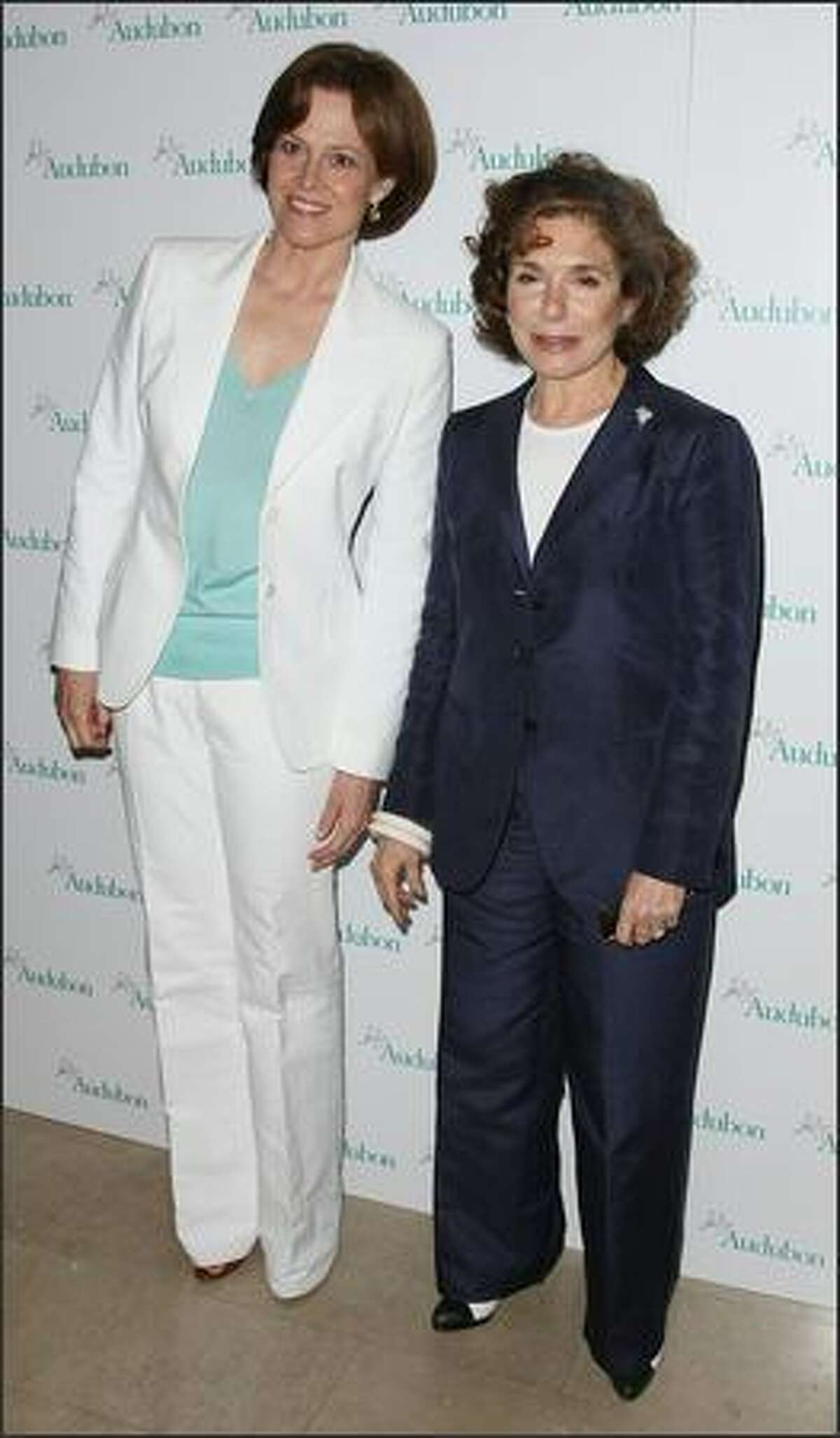 Actress Sigourney Weaver and Teresa Heinz attend the Fifth Annual Women in Conservation luncheon at The Plaza in New York City.