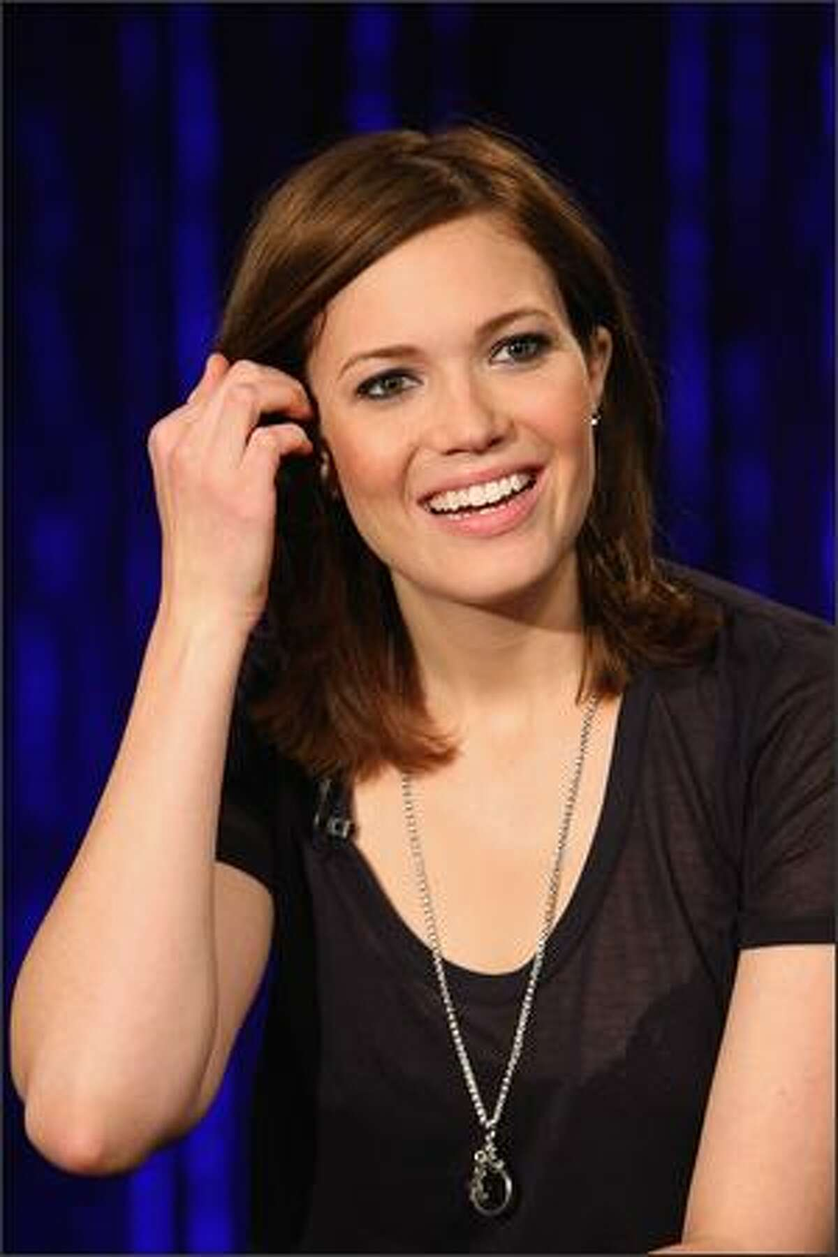 Singer/Actress Mandy Moore visits fuse Studios in New York City.