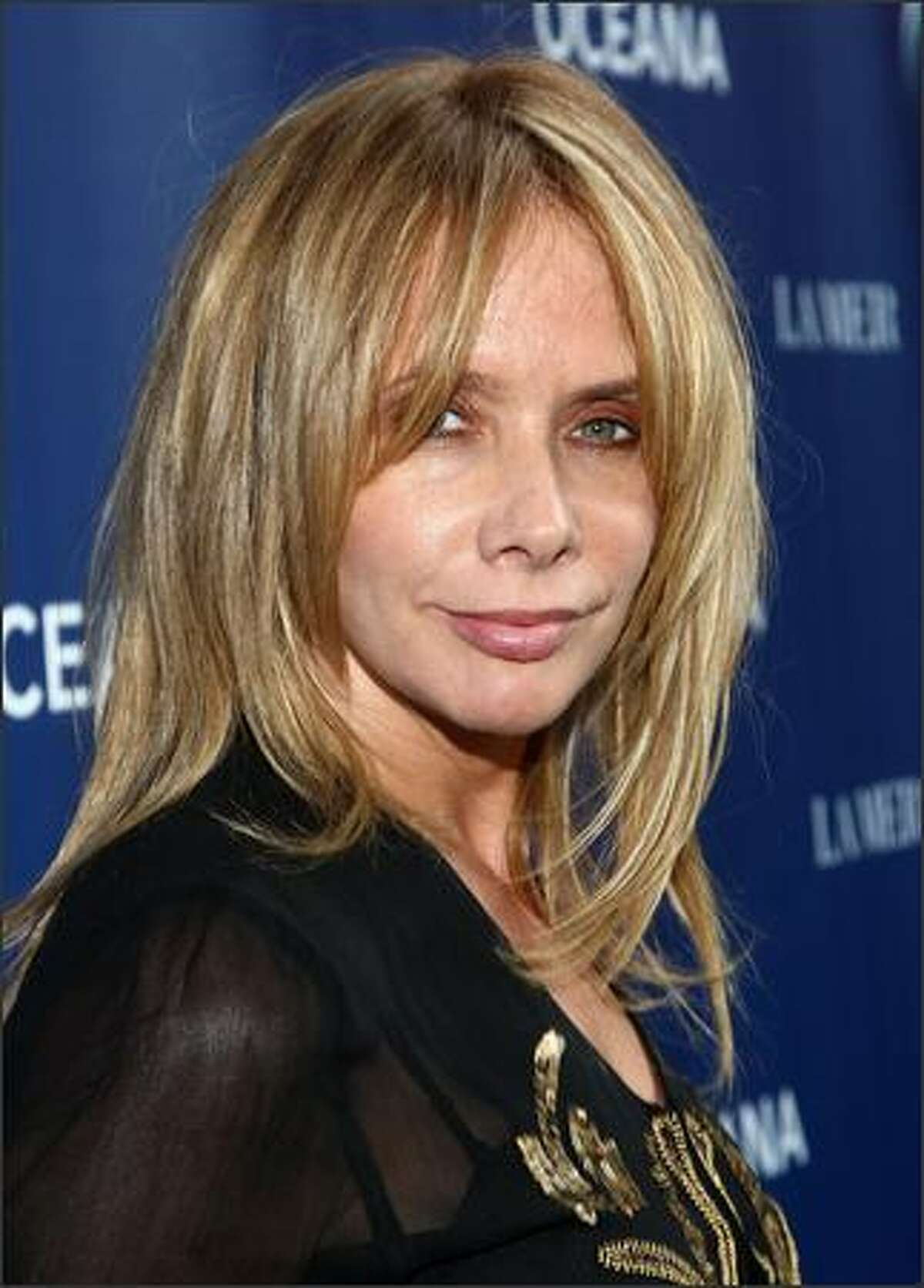 Actress Rosanna Arquette arrives at the World Oceans Day celebration hosted by La Mer and Oceana at Private Residence in Los Angeles, California.