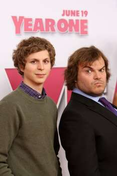"Actors Michael Cera and Jack Black attends the Columbia Pictures world premiere of ""Year One"" at AMC Lincoln Square on June 15 in New York City. Photo: Getty Images / Getty Images"