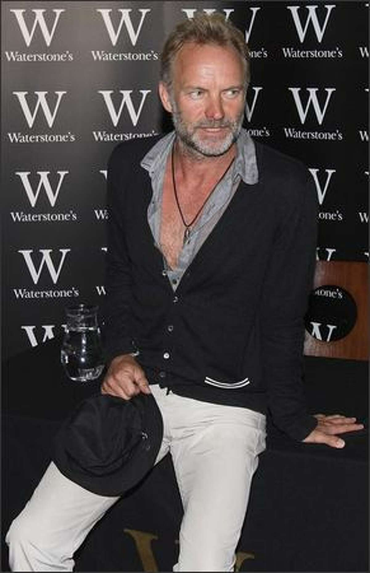 British musician Sting attends a photocall for the release of his new book