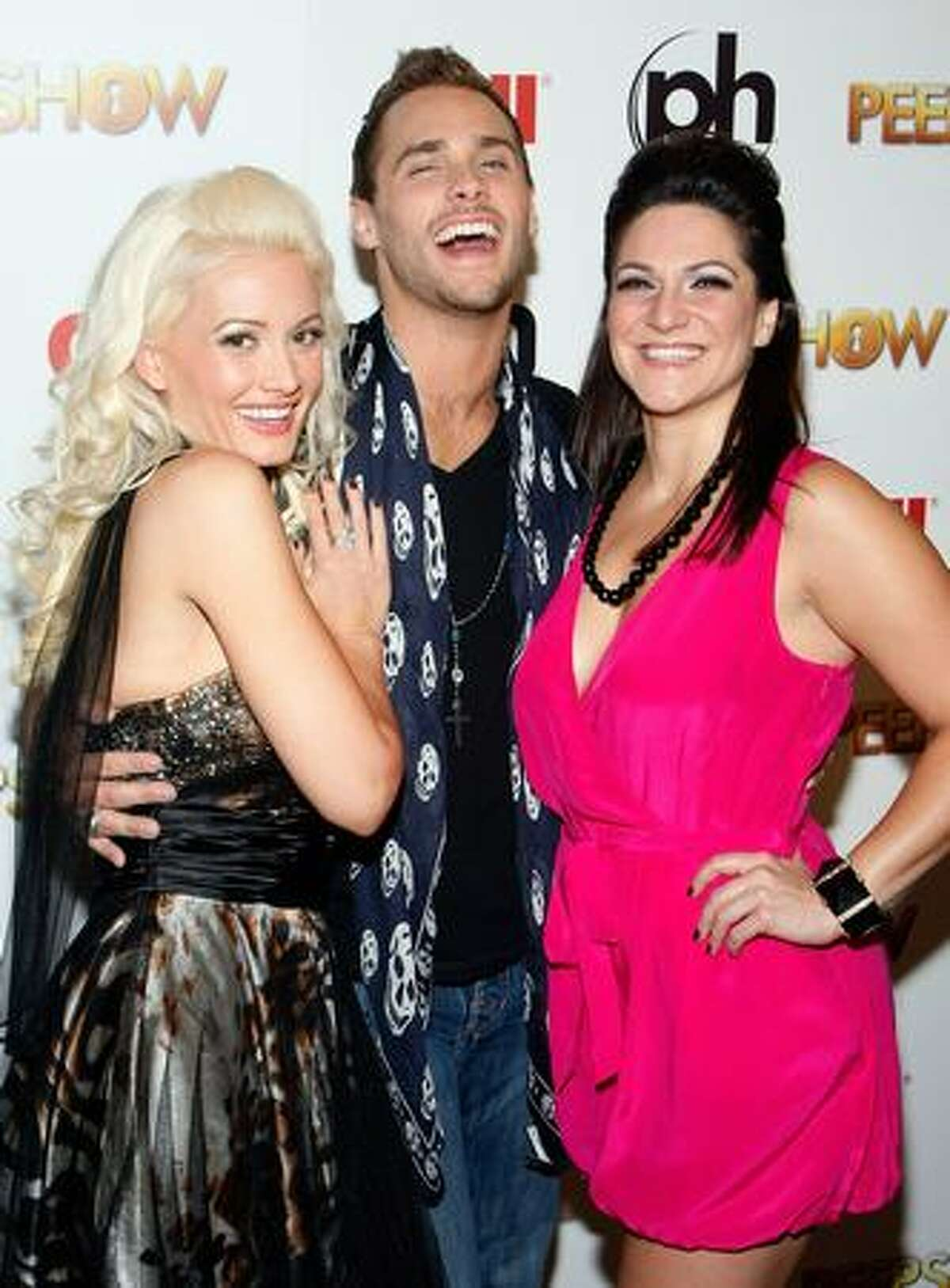 Television personality and model Holly Madison, singer Josh Strickland and actress Shoshana Bean appear at the after party for the adult production