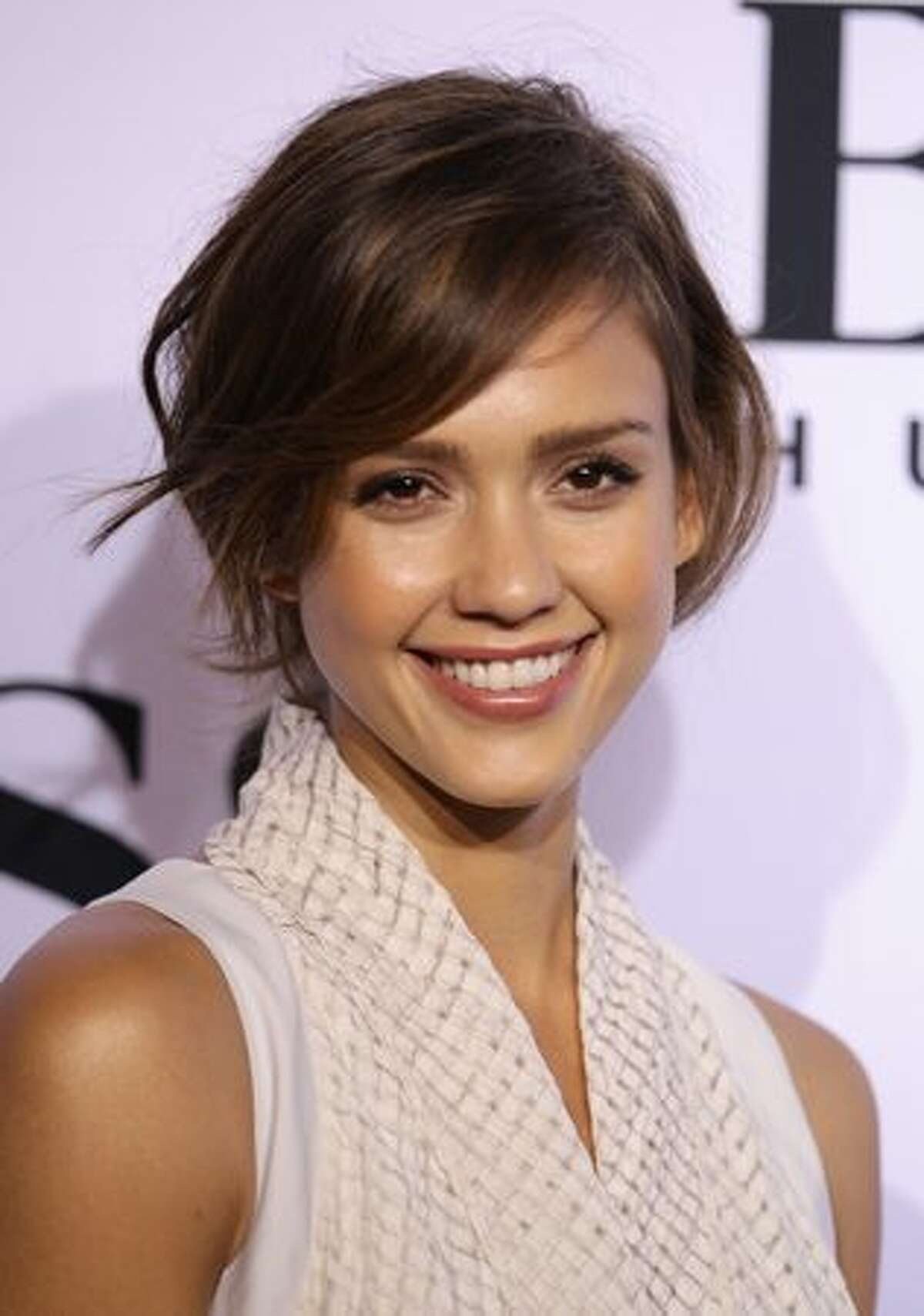 Actress Jessica Alba arrives at the Boss Black Show during the Mercedes-Benz Fashion Week Spring/Summer 2011.