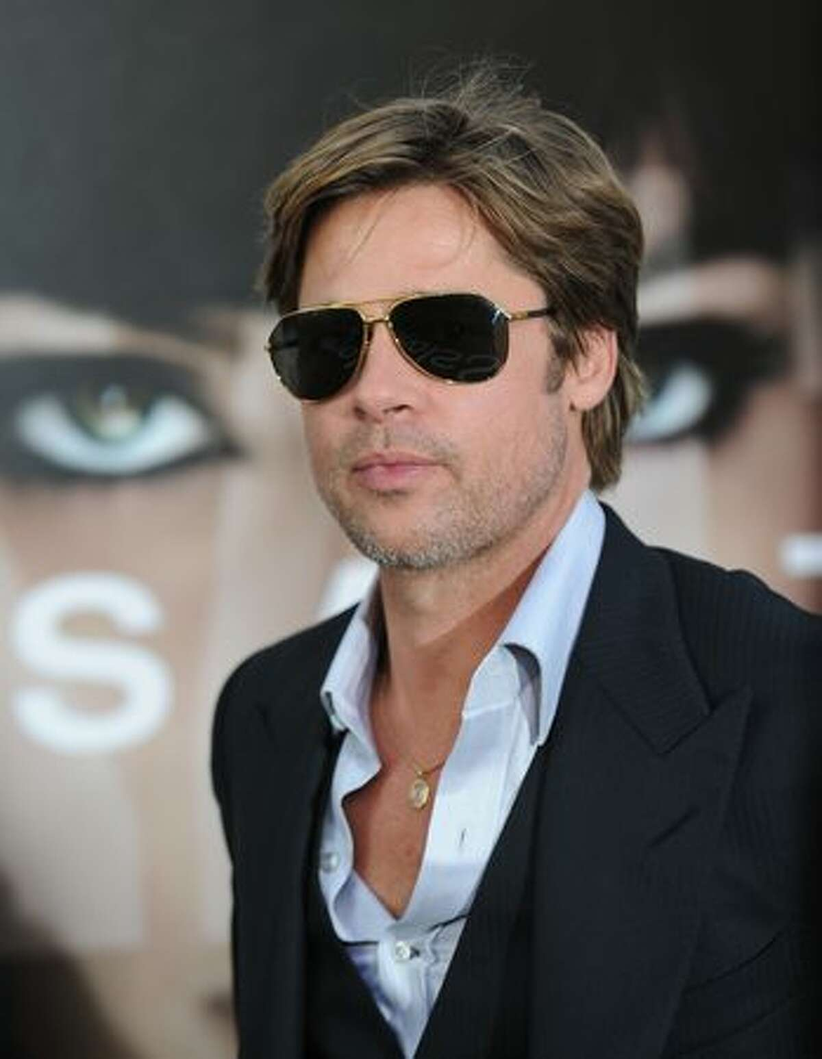 Actor Brad Pitt arrives at the premiere of