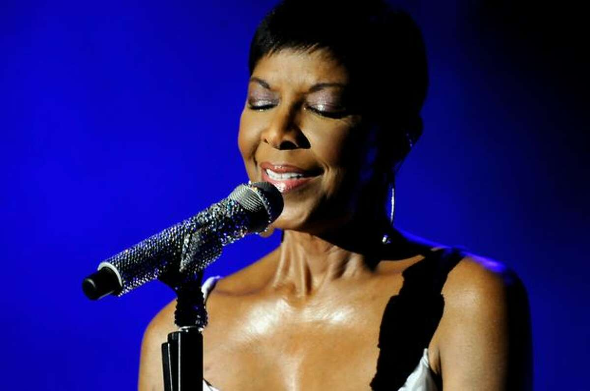 Natalie Cole performs in concert during