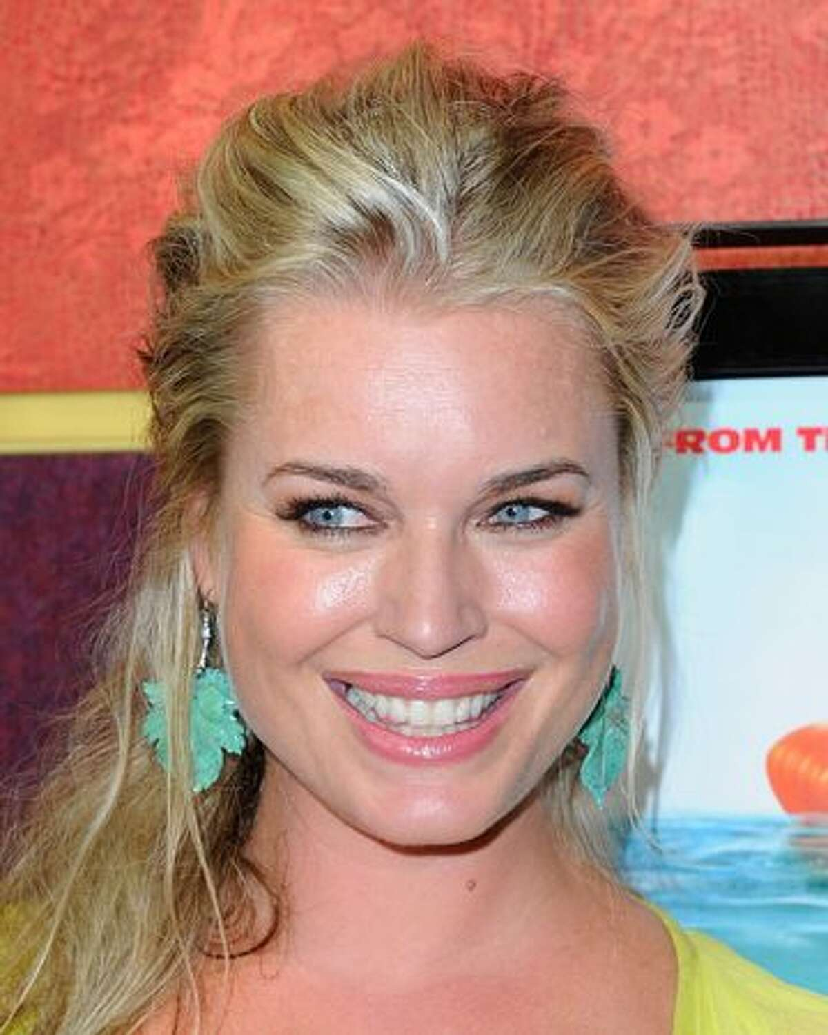 """Actress Rebecca Romijn arrives at the premiere of The Weinstein Company's """"Piranha 3D"""" at the Mann's Chinese 6 Theatre in Hollywood, California."""