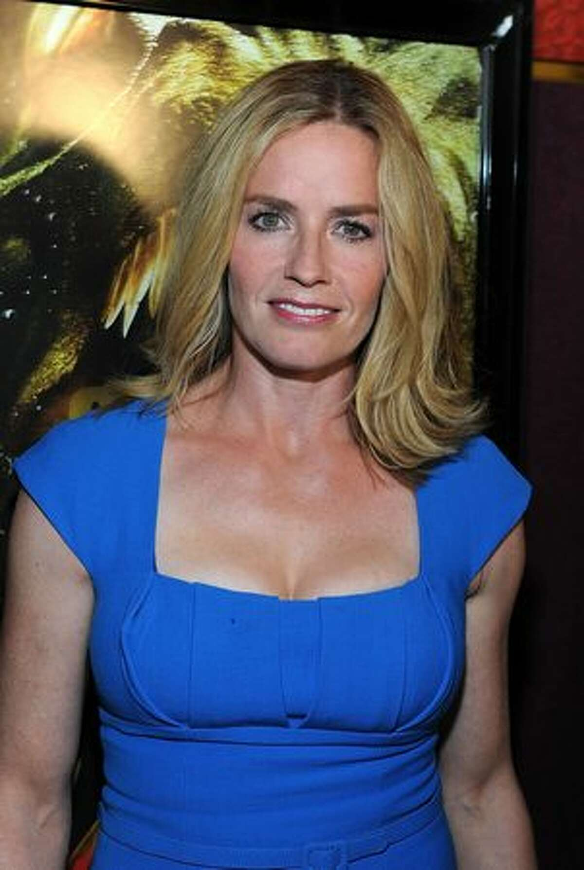 """Actress Elisabeth Shue arrives at the premiere of The Weinstein Company """"Piranha 3D"""" at the Mann's Chinese 6 Theatre in Hollywood, California."""