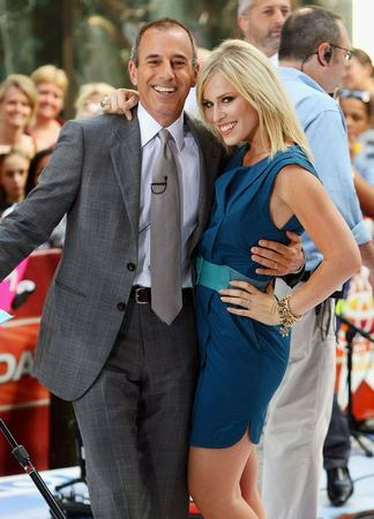 """""""Today"""" show host Matt Lauer and singer Natasha Bedingfield attend the NBC's """"Today"""" at Rockefeller Center in New York City."""