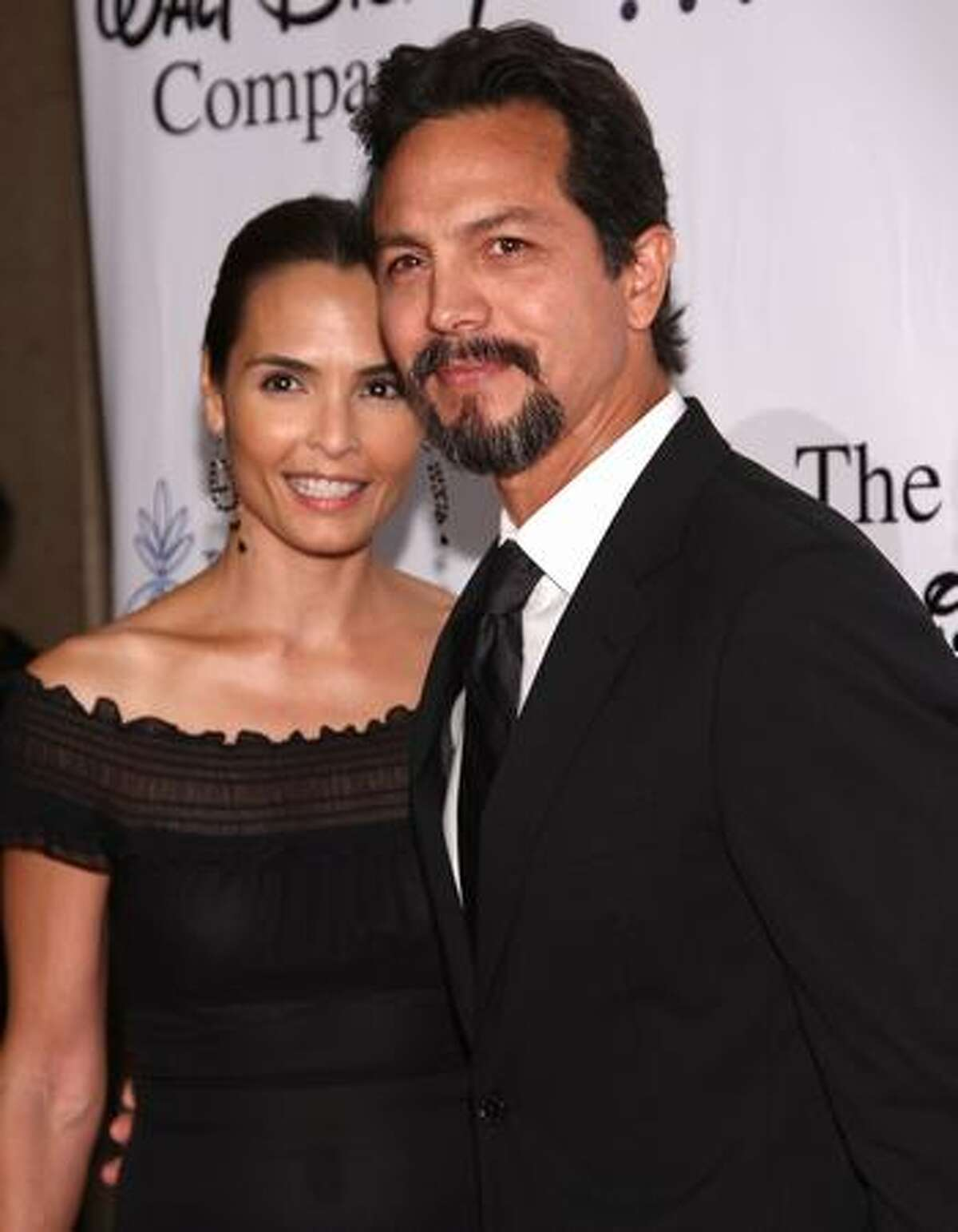 Actress Talisa Soto and actor Benjamin Bratt arrive at the 24th Annual IMAGEN Awards held at the Beverly Hilton Hotel in Beverly Hills, California.