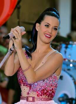 "Singer Katy Perry performs on NBC's ""Today"" in Rockefeller Center in New York City. Photo: Getty Images / Getty Images"
