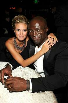 Heidi Klum (L) and singer Seal attend the Fox Broadcasting Company, Twentieth Century Fox Television and FX 2010 Emmy Nominee Party held at Cicada in Los Angeles, California. Photo: Getty Images / Getty Images