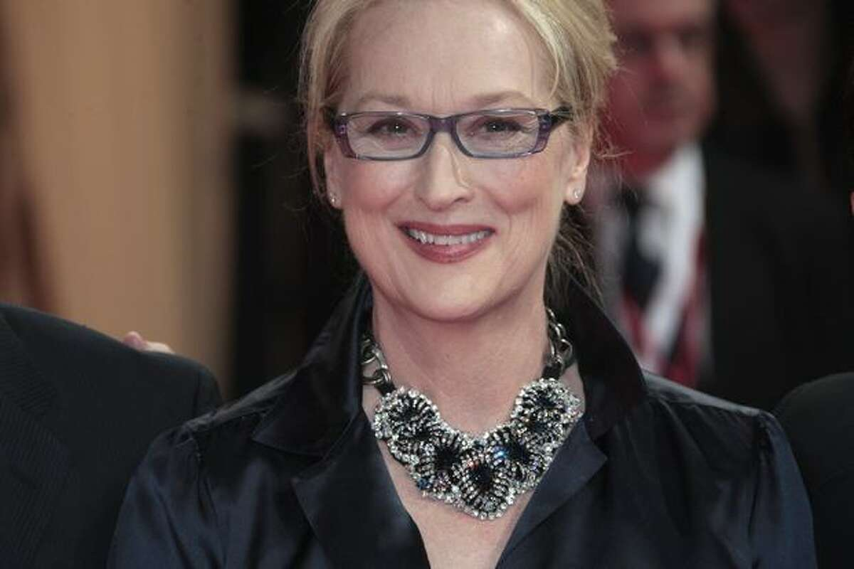 Actress Meryl Streep arrives for the screening of the movie