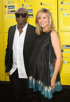 """Singer Seal and actress/model Heidi Klum arrive at the Los Angeles Premiere and Conference """"Get Schooled"""" at Paramount Studios in Los Angeles, California. Photo: Getty Images / Getty Images"""