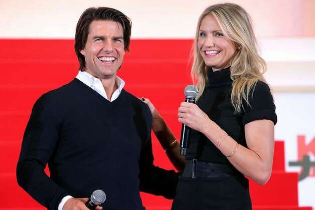 Actor Tom Cruise (L) and actress Cameron Diaz attend the Japan Premiere of 'Knight and Day' at Roppongi Hills in Tokyo, Japan. The film will open on October 9 in Japan. Photo: Getty Images / Getty Images