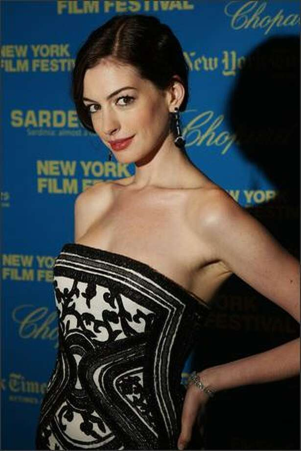 "Actress Anne Hathaway attends the premiere of ""The Class"" during the opening night of the 46th New York Film Festival at Avery Fisher Hall in New York City. Photo: Getty Images / Getty Images"